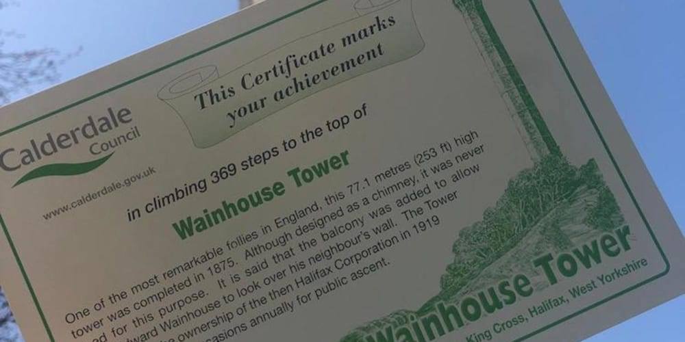 RECOMMENDATION Wainhouse Tower Halifax