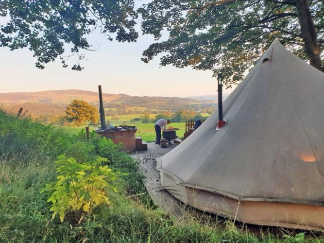 Review Bell Tent Bliss At Catgill Farm Glamping In
