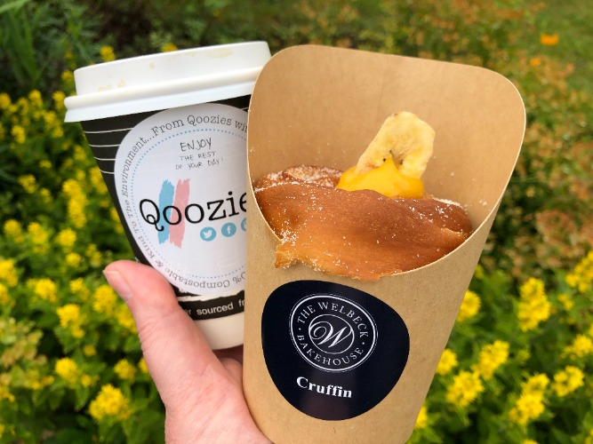 Qoozies coffee and cruffin