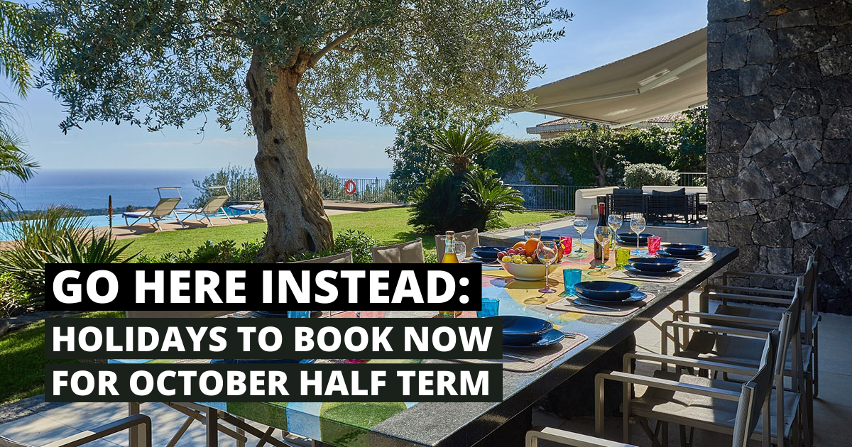 October half term holidays – to book NOW 112