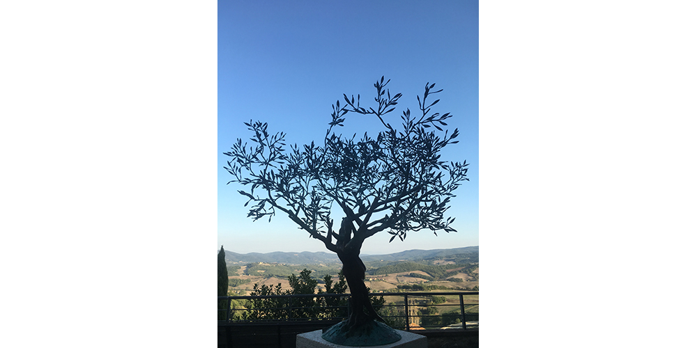 bronze tree in casole d'elsa tuscany