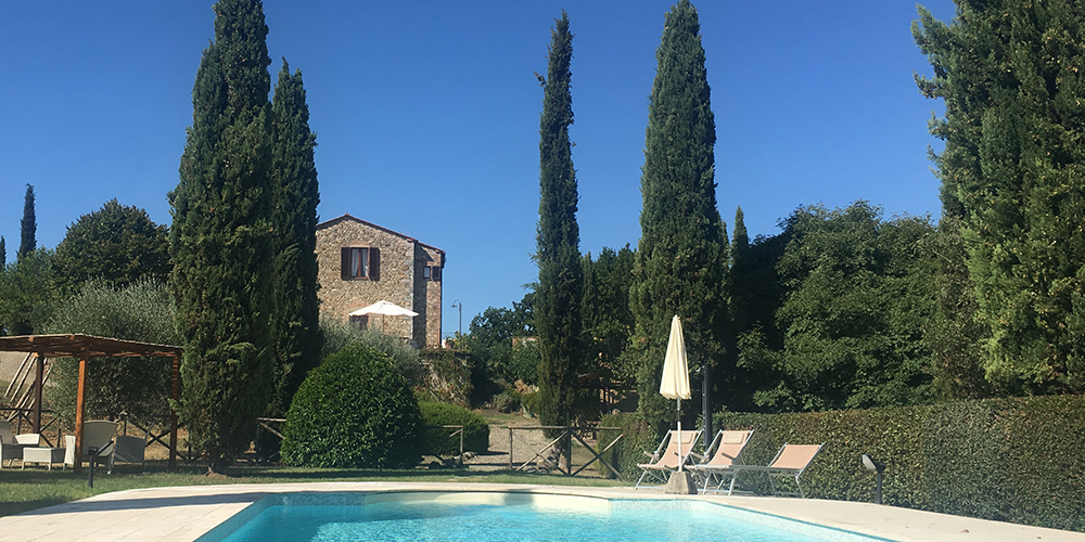 The pool at Pinolo - as inviting as it looks