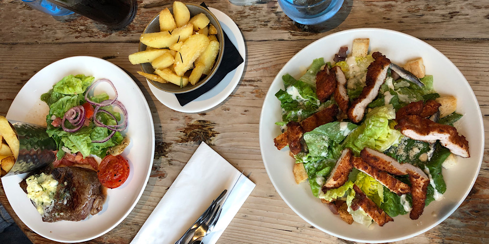 main courses at the White Hart