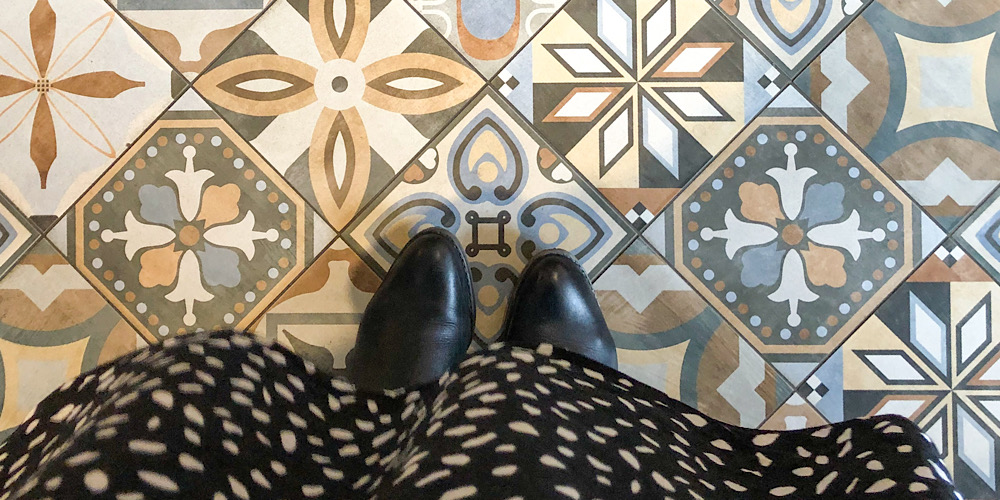 beautiful tiled floor at The Strutt Arms