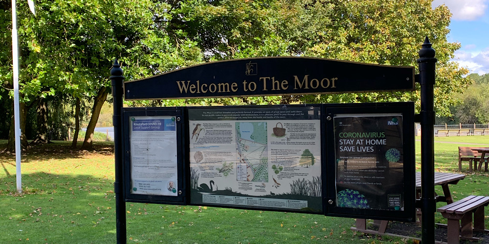 The Moor Knutsford Sign