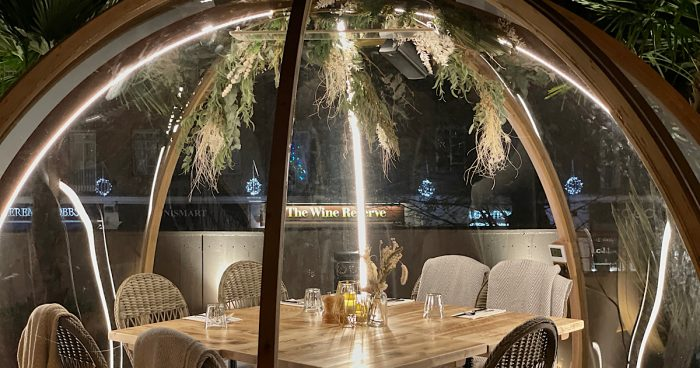 REVIEW | A sublime outdoors / indoors dining experience. Rooftop igloos at Coppa Club, Cobham 1