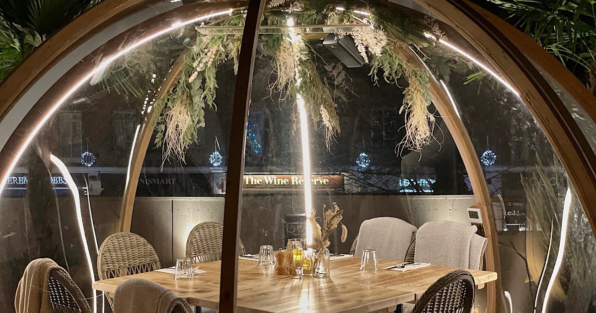 REVIEW | A sublime outdoors / indoors dining experience. Rooftop igloos at Coppa Club, Cobham 13