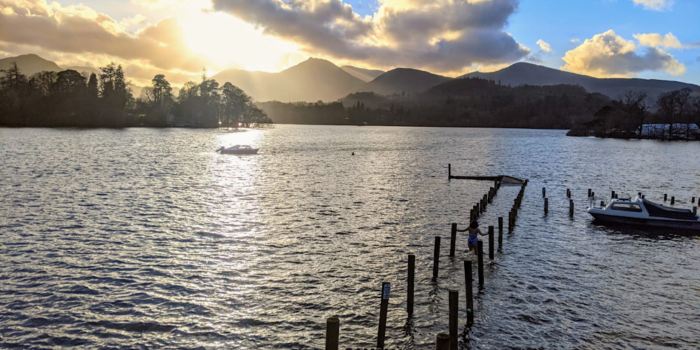 Amazing Wild Swim Spots in The Lake District Derwentwater Flooded