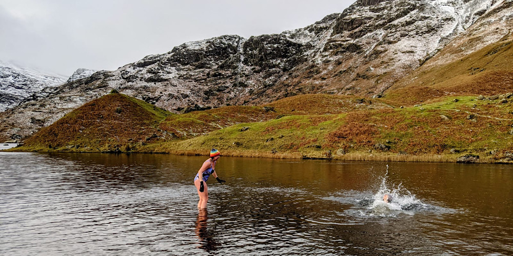 Amazing Wild Swim Spots in The Lake District Easedale Tarn Splash