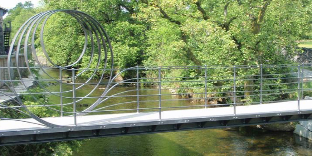 Wheelchair Accessible Walks in The Lake District Stavely millenium bridge