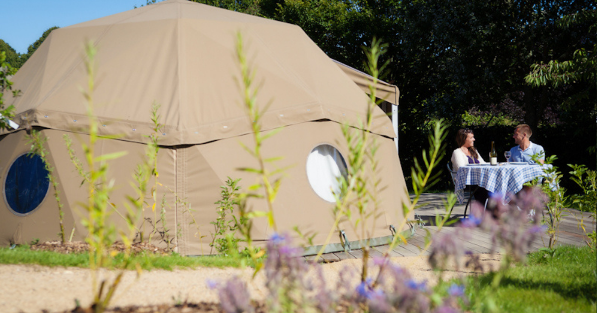 Geodome glamping tent