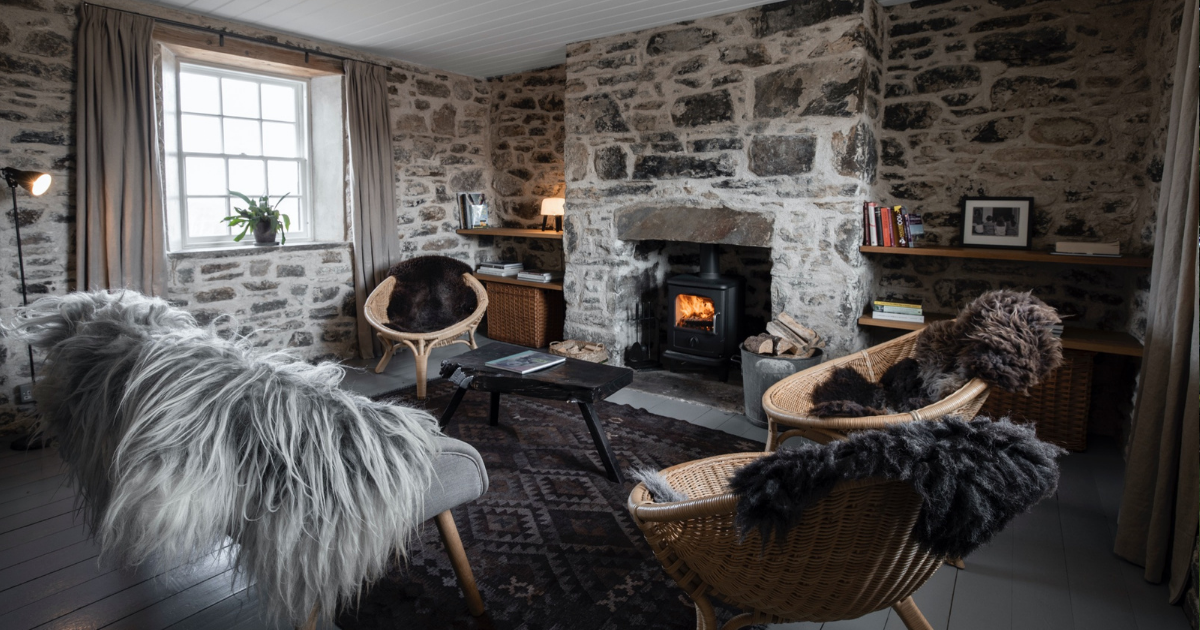 The cosy living room at Killiehuntly - Geordies self-catered cottage