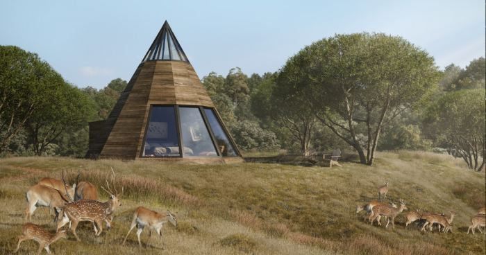 the wildest places to stay in the uk wooden wigwam in nature reserve