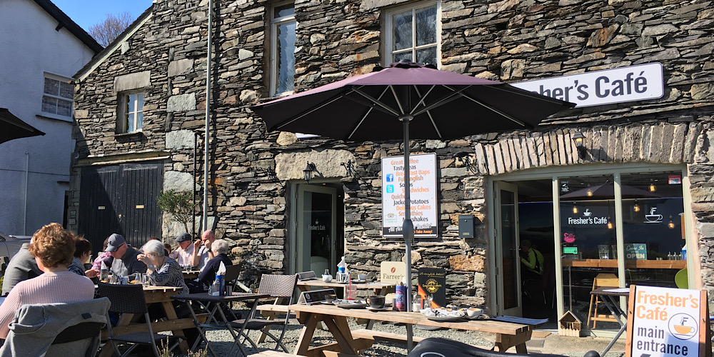 Restaurants with outdoor seating in The Lake District Freshers Cafe Ambleside