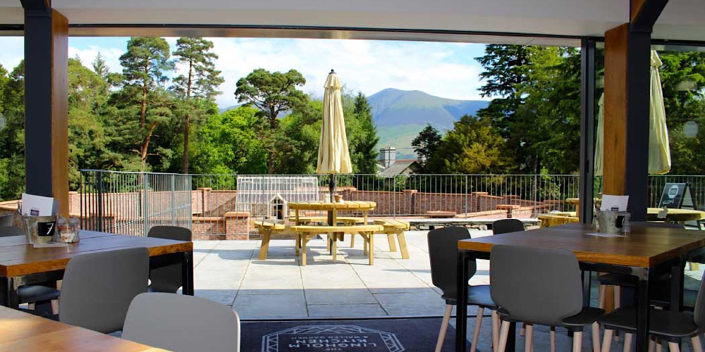 Restaurants with outdoor seating in The Lake District Lingholm Kitchen