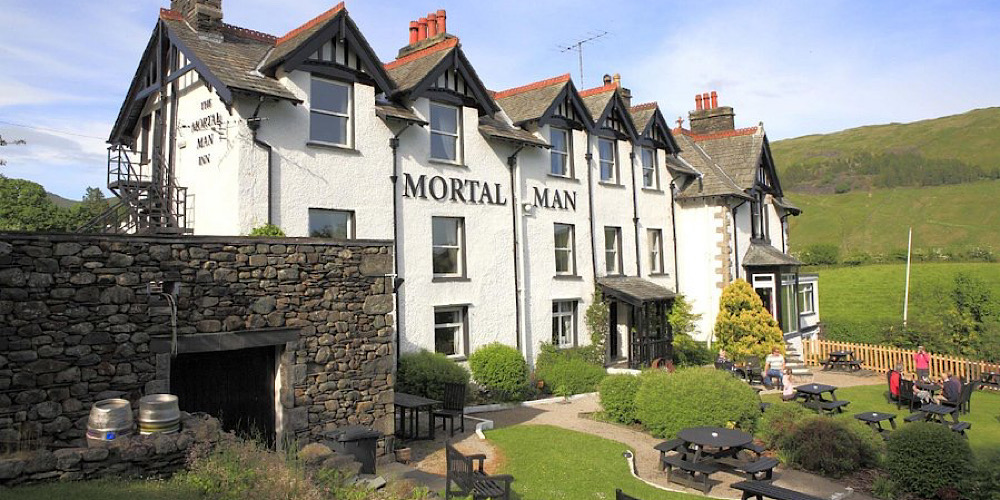 Restaurants with outdoor seating in The Lake District Mortal Mann