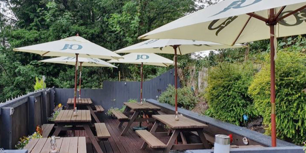 Restaurants with outdoor seating in The Lake District Pheasant Inn Terrace