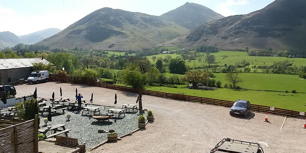 Restaurants with outdoor seating in The Lake District Swinside Inn