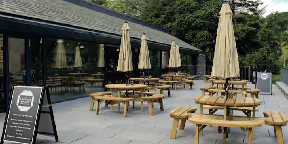 Restaurants with outdoor seating in The Lake District The Lingholm Kitchen Outdoor Seating