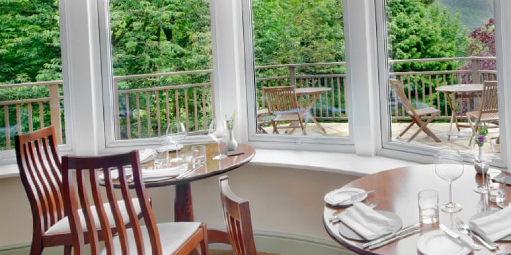 Restaurants with outdoor seating in The Lake District Tweedies Bar Guzzler Cottage in The woods outdoor seating