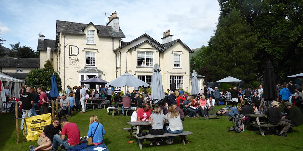 Restaurants with outdoor seating in The Lake District Tweedies Bar Guzzler