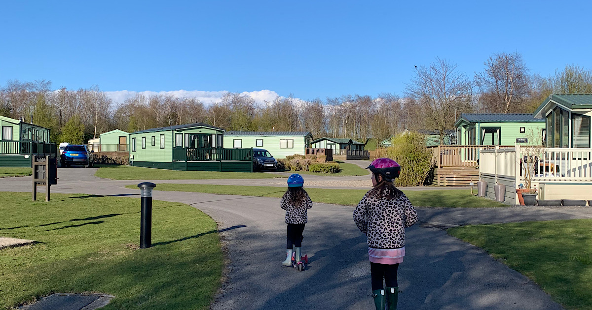 Static caravan holiday in the UK with kids